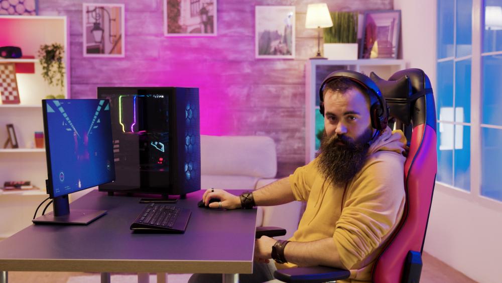 adult man gaming