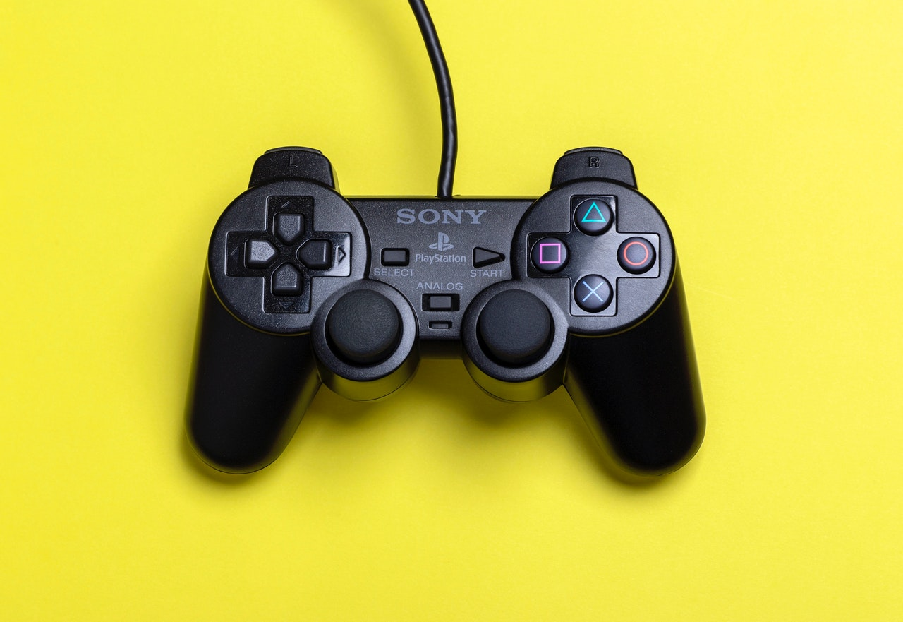 black playstation controller